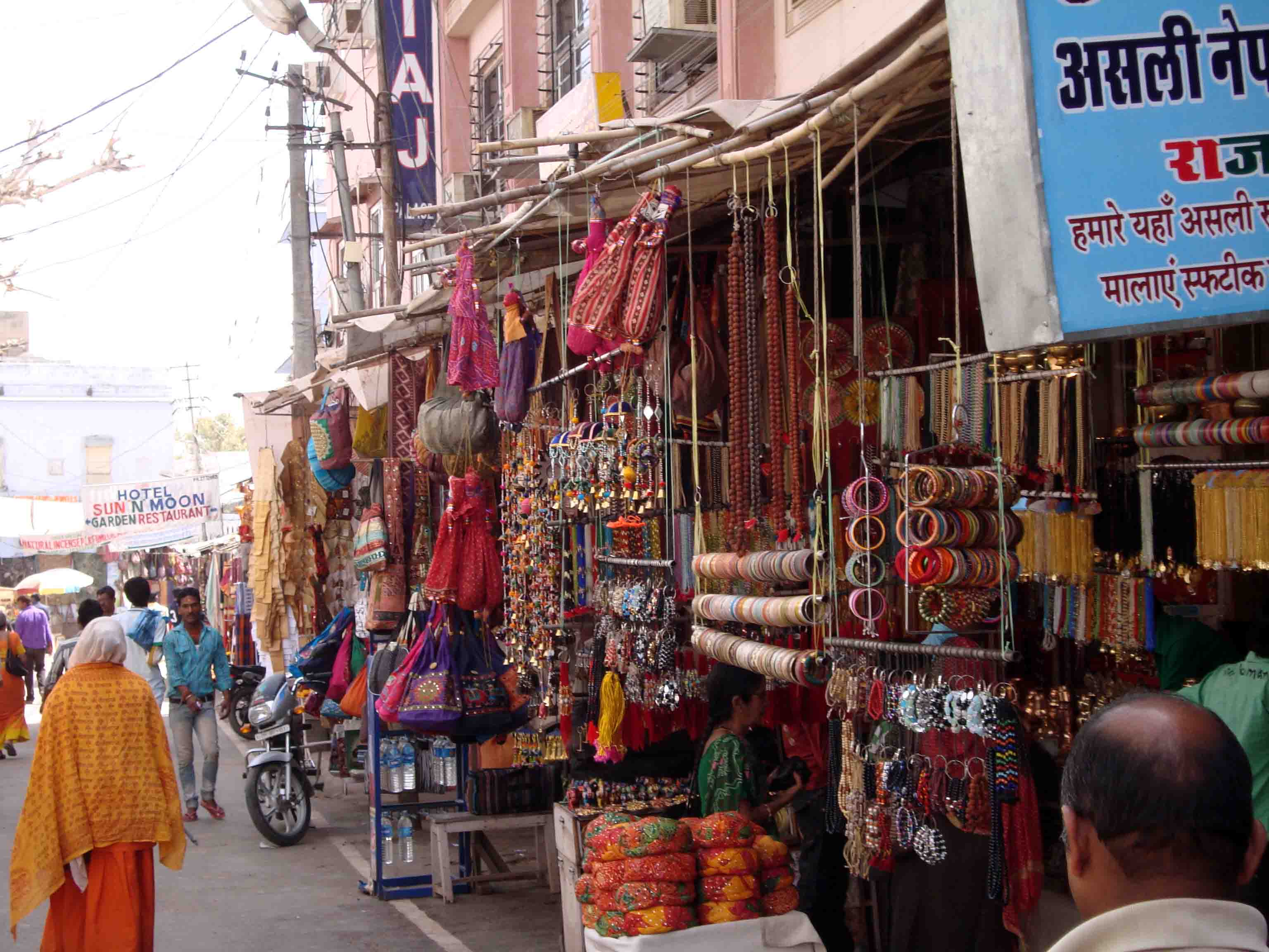 shopping in Pushkar