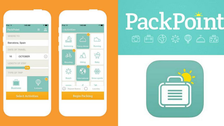 Pack Point mobile app,mobile application,india tailor made,applications,travel app